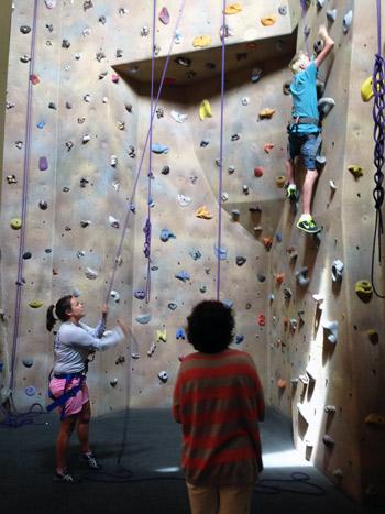 National Ability Center climbing wall