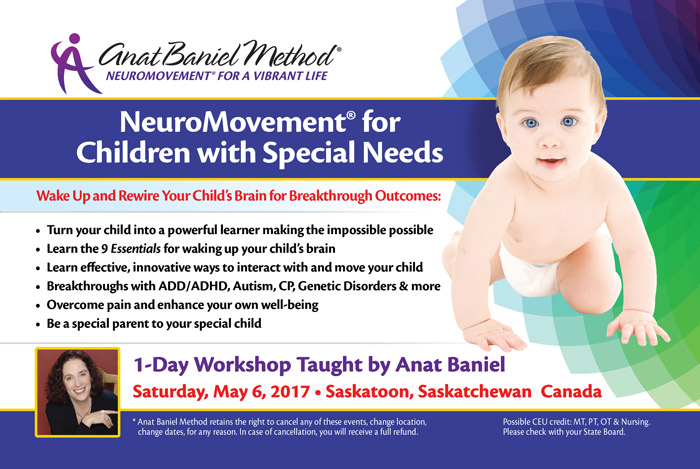 NeuroMovement for Chidlren with Special Needs - Saskatoon