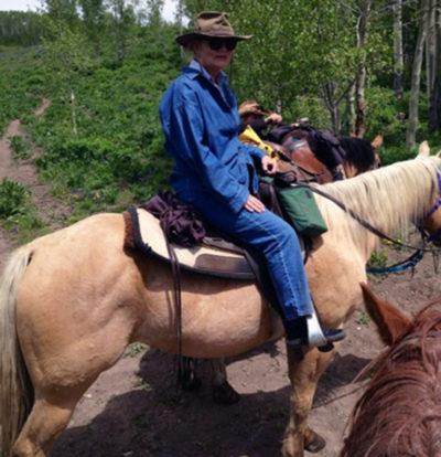 Peggy on horseback - after NeuroMovement