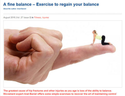 A Fine Balance -fitness article by Anat Baniel