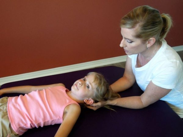Analiese in a NeuroMovement lesson