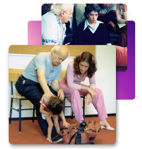 Moshe Feldenkrais and Anat Baniel working