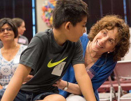 Anat Baniel works with a boy
